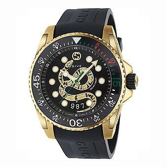 Gucci YA136219 Dive Quartz Black Dial Men's Watch
