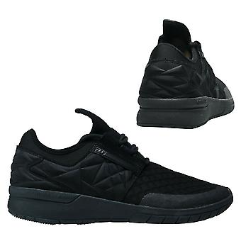 Supra Flow Run Evo Lace Up Mens Casual Running Trainers Black 08342 001 D92