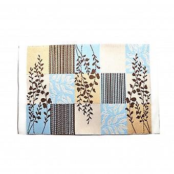 Dolls House Niebieski brąz i beżowy nowoczesny dywan mat miniaturowe akcesorium 1:12 Skala
