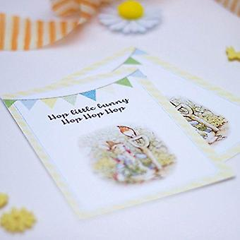 Peter Rabbit Invites with Bunting design and envelopes Setx 6