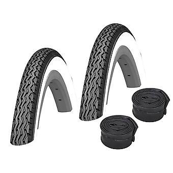 "Bike Set 2 x Kenda K-133 Bicycle Tire // 37-590 (26×1 3/8"") + Hoses"