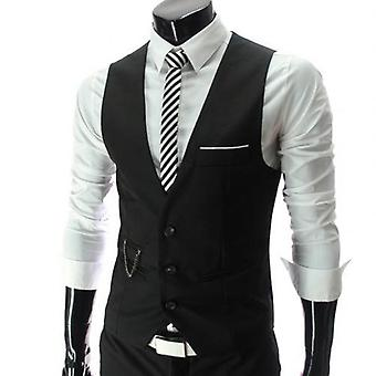 Casual Sleeveless Formal Business Jacket Dress Vests, Slim Fits,  Suit Male