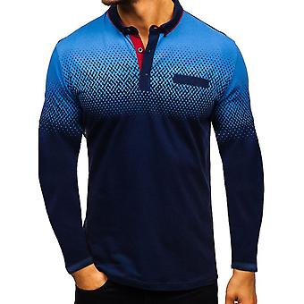 Miesten's Fashion Gradient Golf Tennis T-paita