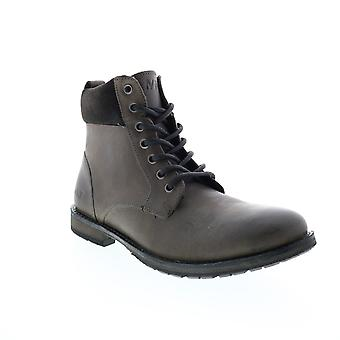 Andrew Marc Kent  Mens Gray Leather Casual Dress Boots