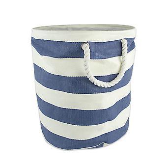 Dii Paper Bin Stripe Milieu rond bleu nautique