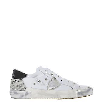 Philippe Modelo Prldxa02 Mujer's Zapatillas de Cuero Blanco