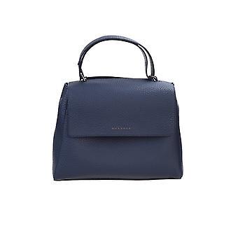 Orciani Bt2006softnavy Women's Blue Leather Handbag