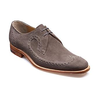 Barker Woody - Smoke Grey Suede - 8 | Mens Handmade Leather Derby | Barker Shoes