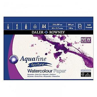 Daler Rowney Aquafine 140lb aquarela Pad A4