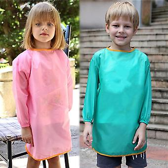 Pure Color Kids Kitchen  Pron Bbq Bib Apron Cooking Baking Restaurant Kids