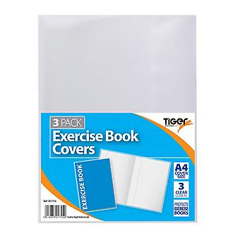 Tiger Stationery 3 X A4 Exercise Book Covers