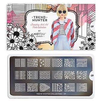 MoYou London Nail Art Image Plate - Trend Hunter 01 (692691)