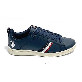 Herresko Oss Polo Sneaker Mod. Grayson Ecopelle Mørk Blå U21up17
