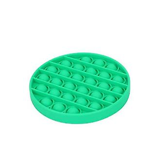 Green Round Push Pops Bubble Sensory Autism Squishy Stress Reliefr Toy Adult Child Funny Anti-stress Pops Fidget Kids