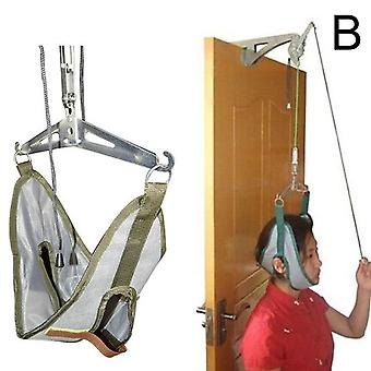 Hanging neck traction kit adjustable cervical traction device chiropractic neck correction stretcher pain relief head massager