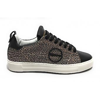 בורבון נעלי נשים עור ונעלי ניילון שחור / אופ טבעי Ds21bo03 6du924-x51