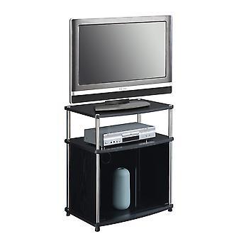 Designs2Go TV-Ständer mit schwarzem Glasschrank - R5-103