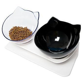 غير زلة وعاء الغذاء مع الوقوف القط الكلب المياه وعاء تغذية الحيوانات الأليفة القابلة للفصل
