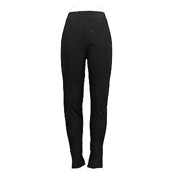 Carole Hochman Cotton Full Length Leggings Black A381863