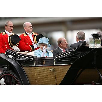 The Queen with Prince Philip - Royal Ascot 2012. Framed Photo. Horse Racing - 2012 Royal Ascot -.