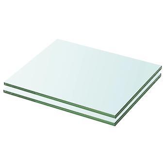 vidaXL رفوف 2 PCS. الزجاج شفاف 20 × 20 سم