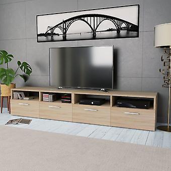 vidaXL 2 pcs. Tv-Spanspanplatte 95 x 35 x 36 cm Chêne