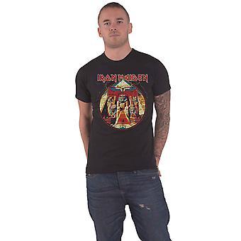 Iron Maiden T Shirt Powerslave Lightning Circle Band Logo Officielle Herre Black