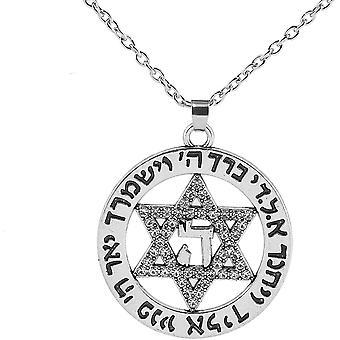 FengChun Metall Kette Pentagramm Fashion Anhnger, hergestellt von Top Kristalle, Mode Schmuck fr