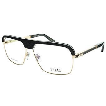ZILLI glasögon Ram Titanacetat Svart Guld Frankrike Tillverkad ZI 60033 C04