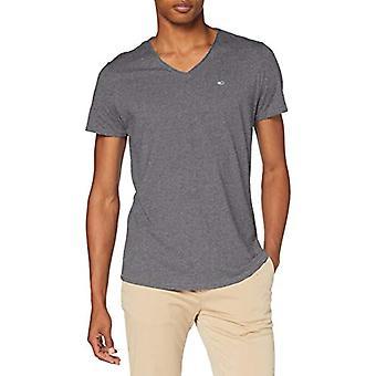 Tommy Jeans Tjm Vneck Jaspe Tee Pants, Color: Dark Grey, S Man