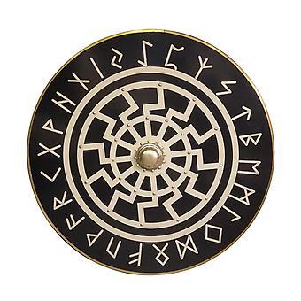Træ Viking nordisk mytologi håndlavet skjold SWE24