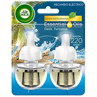Air Wick Oasis Turquoise Electric Air Freshener 2 refills