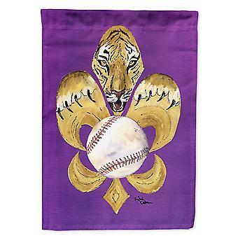Caroline's Treasures 8476Gf Tiger Fleur De Lis Baseball Flag, Piccolo, Multicolore