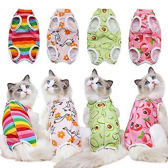 Cat haine de sterilizare după o intervenție chirurgicală seria de fructe patru sezoane haine pentru animale de companie