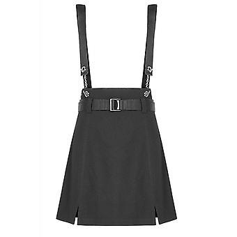 Punk Rave Hell Girl Shoulder Strap Skirt