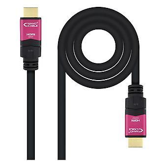 HDMI Cable NANOCABLE 10.15.3715 4K HDR 15 m Black
