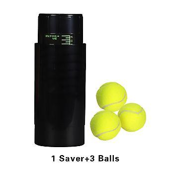 Tennispallonsäästäjä - paineistettu tennispallovarasto, joka pitää pallot pomppimassa kuin uusi