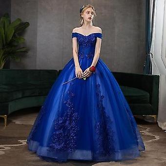 Pitsi kirjonta ball gown, Quinceanera mekko