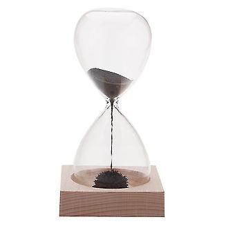Magnet Hourglass Awaglass Hand-blown Sand Timer Desktop Decoration Magnetic Hourglass Black