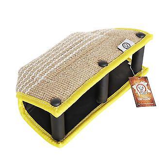 Almohada de mordedura de perro k9 3 mangos suaves de peluches de entrenamiento de remolcadores para mascotas almohadilla