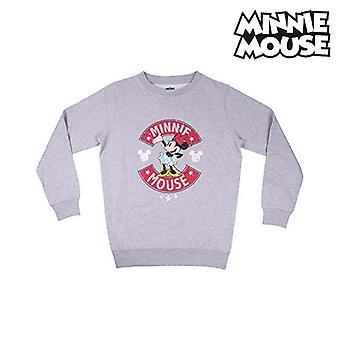 Kvinders sweatshirt uden Hood Minnie Mouse Grey Lady