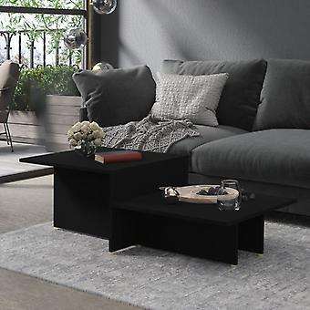 vidaXL Sohvapöytä Musta 111,5x50x33 cm Lastulevy