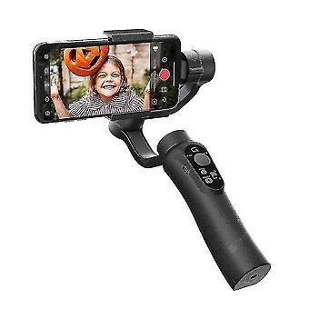 3軸電話ハンドヘルドジンバルスタビライザー、アンチシェイクスマート写真カメラブラケット