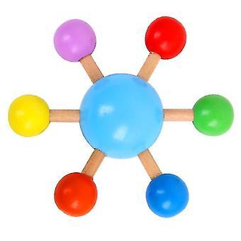 Fingertip Farebné spinning top, drevená zábava voľný čas dekompresie hračka (modrá)