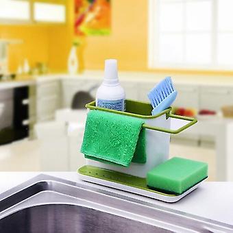 Household Kitchen Sink Drains Rack Organizer Pp Dish Soap Sponge Brush Holder