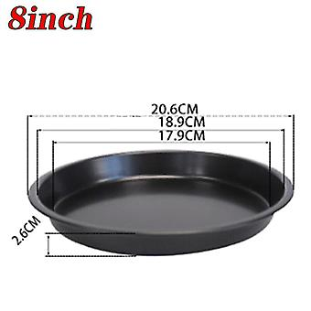 """(8 inch) 6/8/9/10"""" Non-Stick PIZZA TRAY Carbon Steel Baking Round Oven Pizza Pan Plate"""