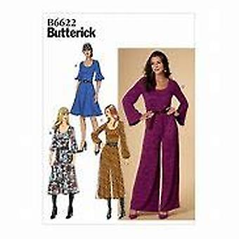 Butterick ompelu kuvio 6622 Misses Naisten mekko ja haalari Koko 6-14 Leikkaamaton