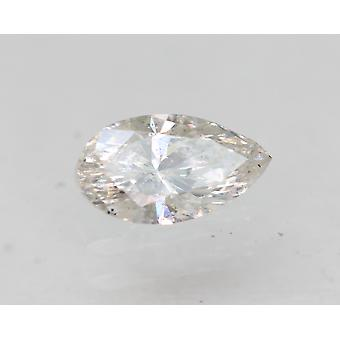Certified 0.22 Carat H Color SI2 Pear Natural Loose Diamond For Ring 5.64x3.18mm