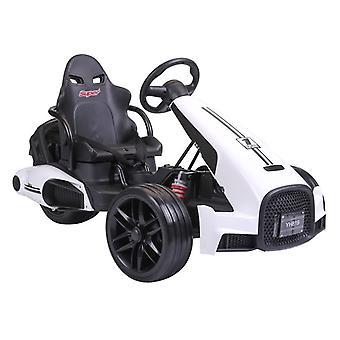 Kart électrique pour enfants - 3 vitesses - Blanc