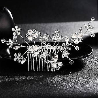 Hair wreaths wedding crystal peals bridal hair clips accessories